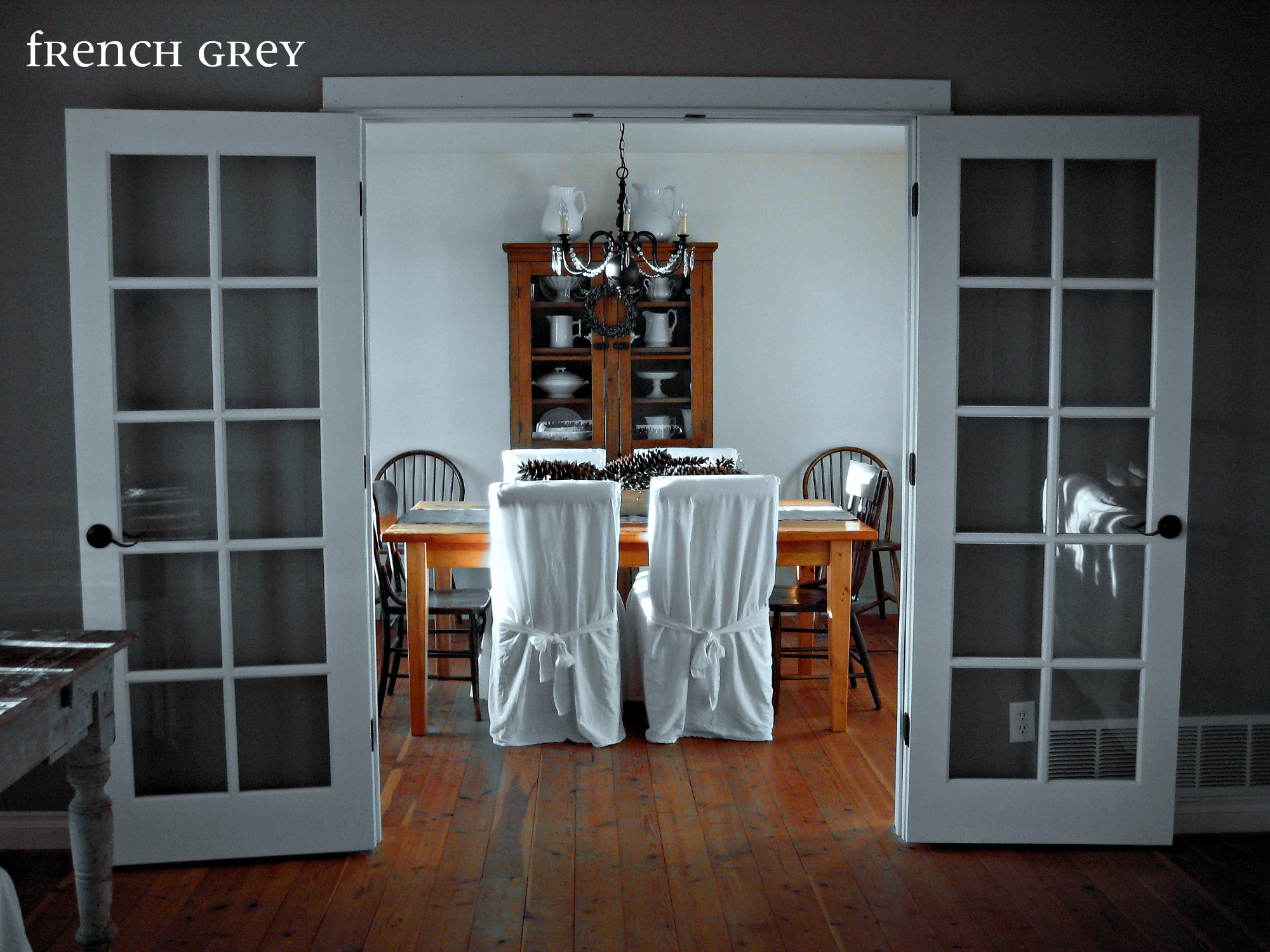 Dining room part 2 french grey for Living room doors