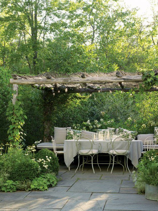 Outdoor rooms french grey for French style gazebo