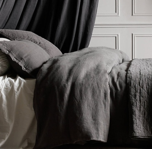 closer black linen