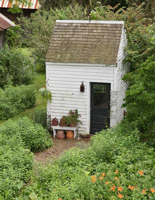 The potting shed french grey for Garden shed small