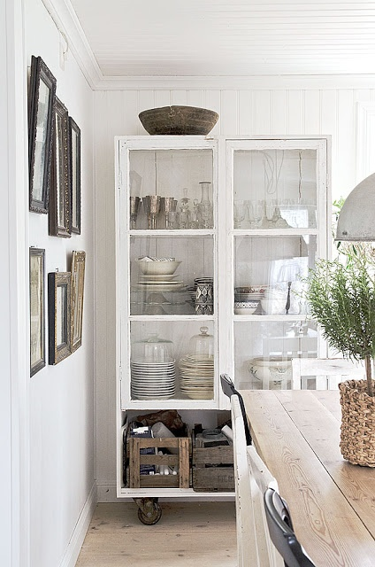 white cart cupboard